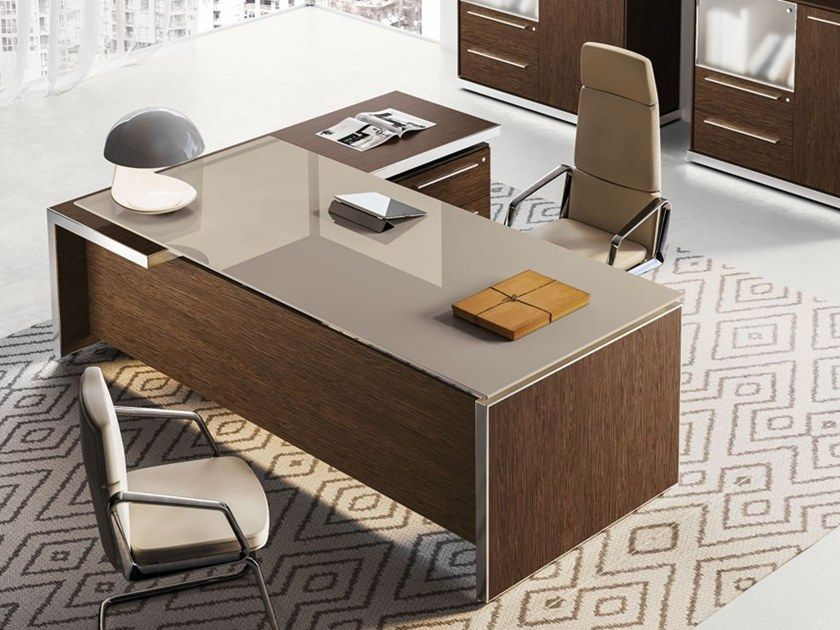 Download The Catalogue And Request Prices Of Eos Office Desk With Drawers By Las Mobili Office Furniture Design Office Table Design Office Furniture Layout