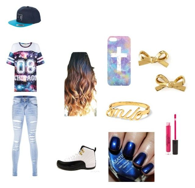 """""""Untitled #3"""" by mindlessmimi143 ❤ liked on Polyvore featuring Parisian, DC Shoes, Topshop, Kate Spade, Stila and Azature"""