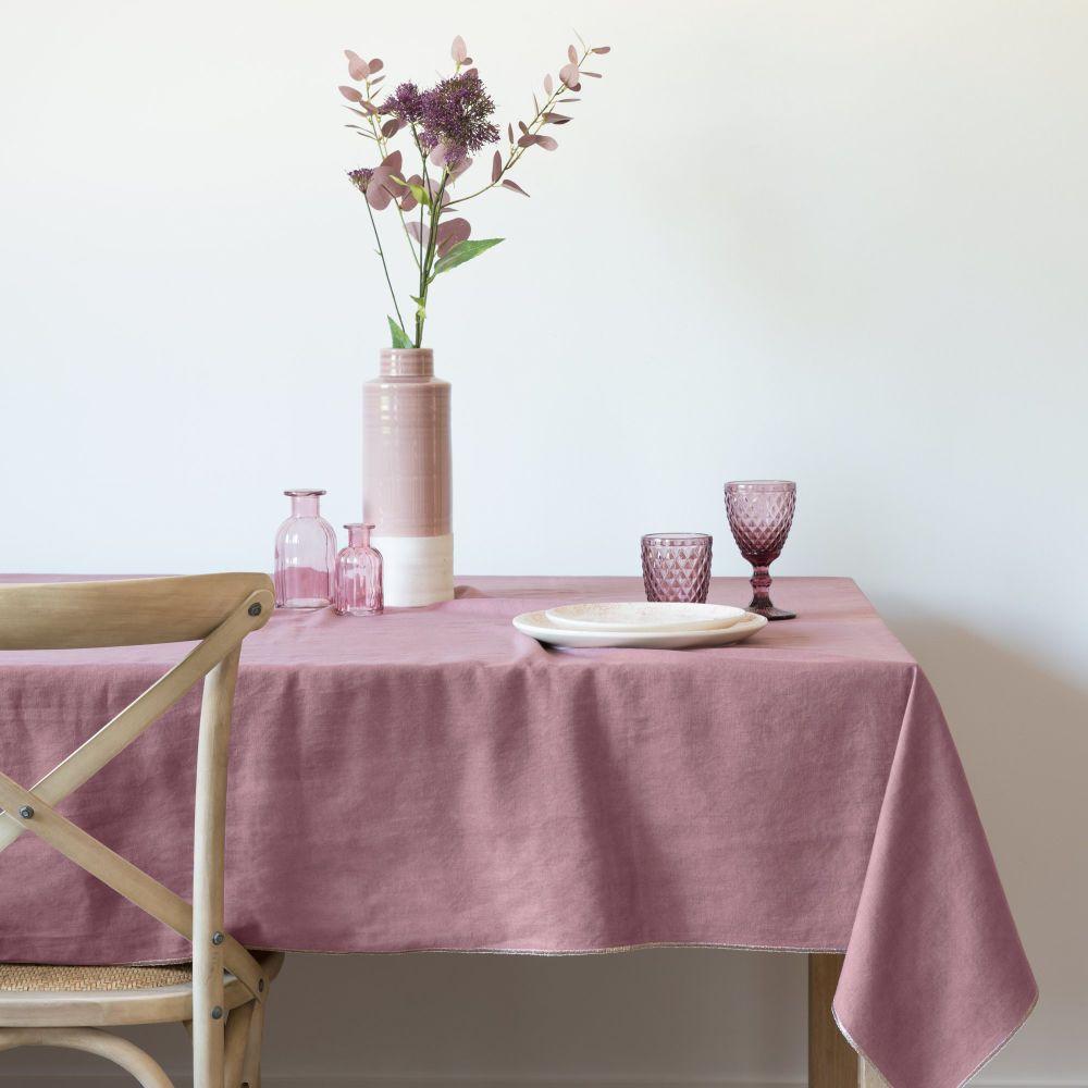 Nappe En Coton Vieux Rose 150x250 Maisons Du Monde Decor De Rose Nappe Vieux Rose
