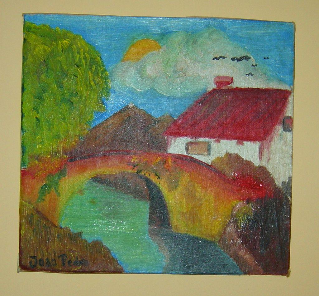 Ano de 1978 / Year of 1978 Oleo 30 x30 / Oil 30 x 30 cm  Com ajuda do meu pai foi o primeiro quadro pintado por mim com apenas 8 anos de idade. / With the help of my father is the first paint made by me only with 8 years old.