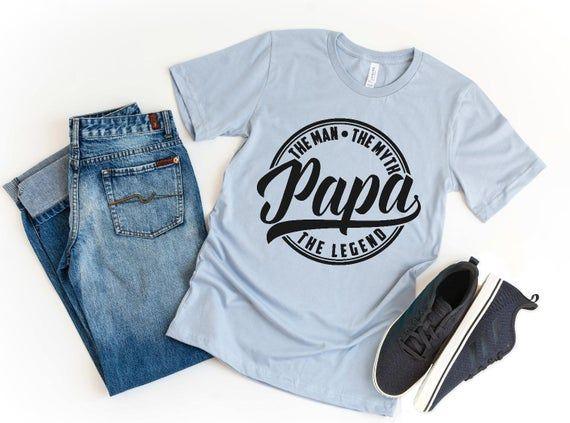 Papa Shirt, Papa Gift, The Man The Myth The Legend Shirt, Gift for Papa, Papa Announcement Shirt, Pa #papashirts