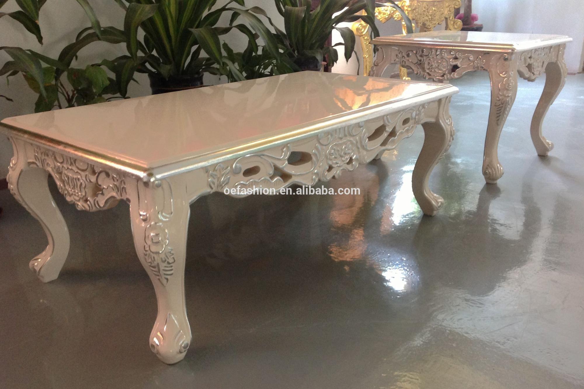 Oe Fashion White Simple Cheap Wood Center Table Design Coffee