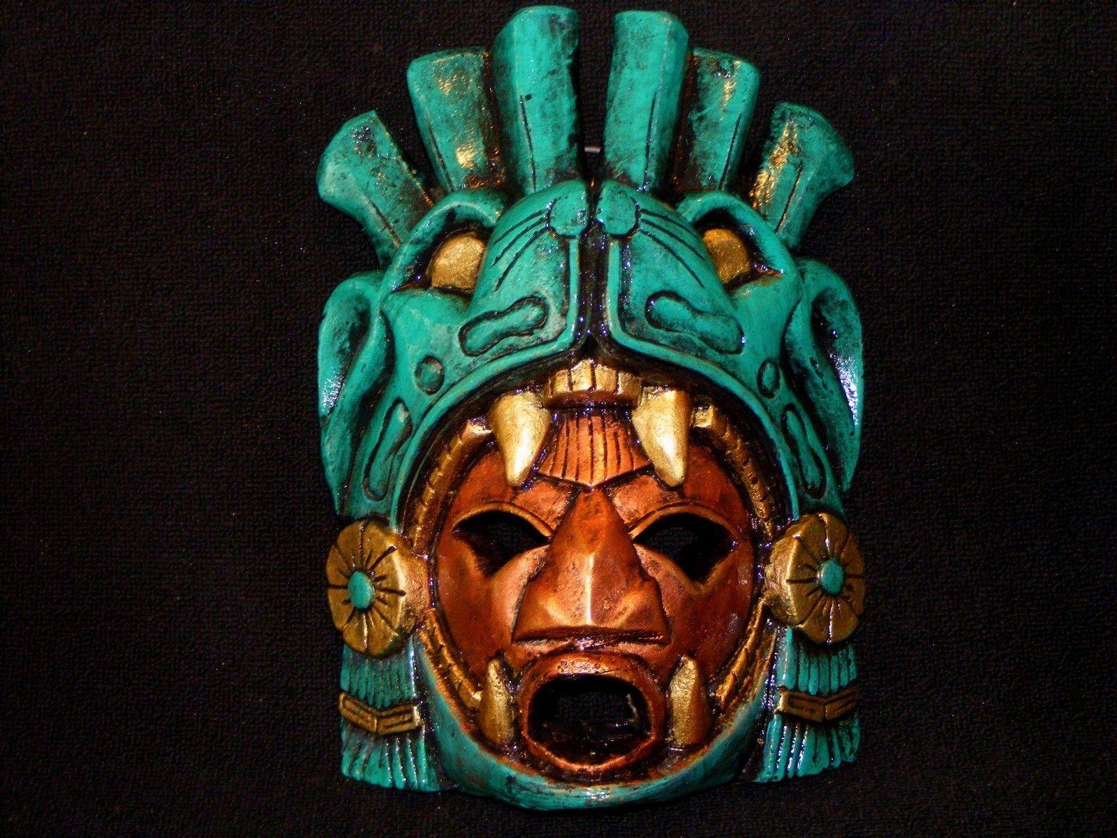 turquoise aztec mask