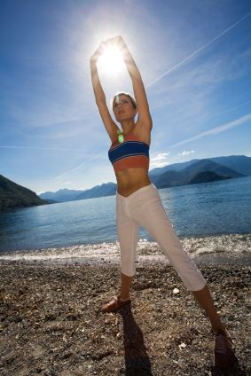 the benefits of sunshine  morning workout easy yoga