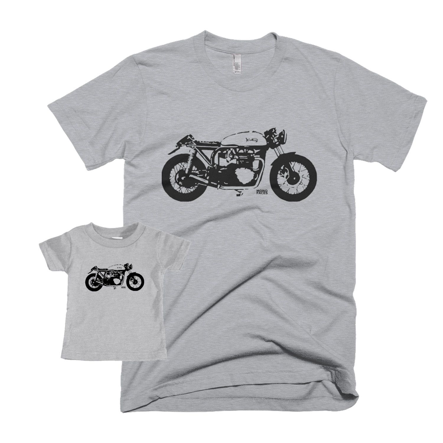 Cafe Racer Dad And Baby Matching Shirt Vintage Motorcycle Father