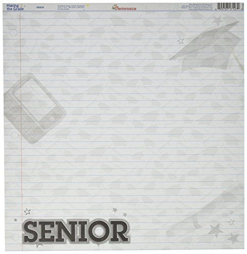 Reminisce Making The Grade 12 By 12inch Double Sided Scrapbook Paper Senior For More Information Visit Image Link I Scrapbook Paper Scrapbook Diy Planner