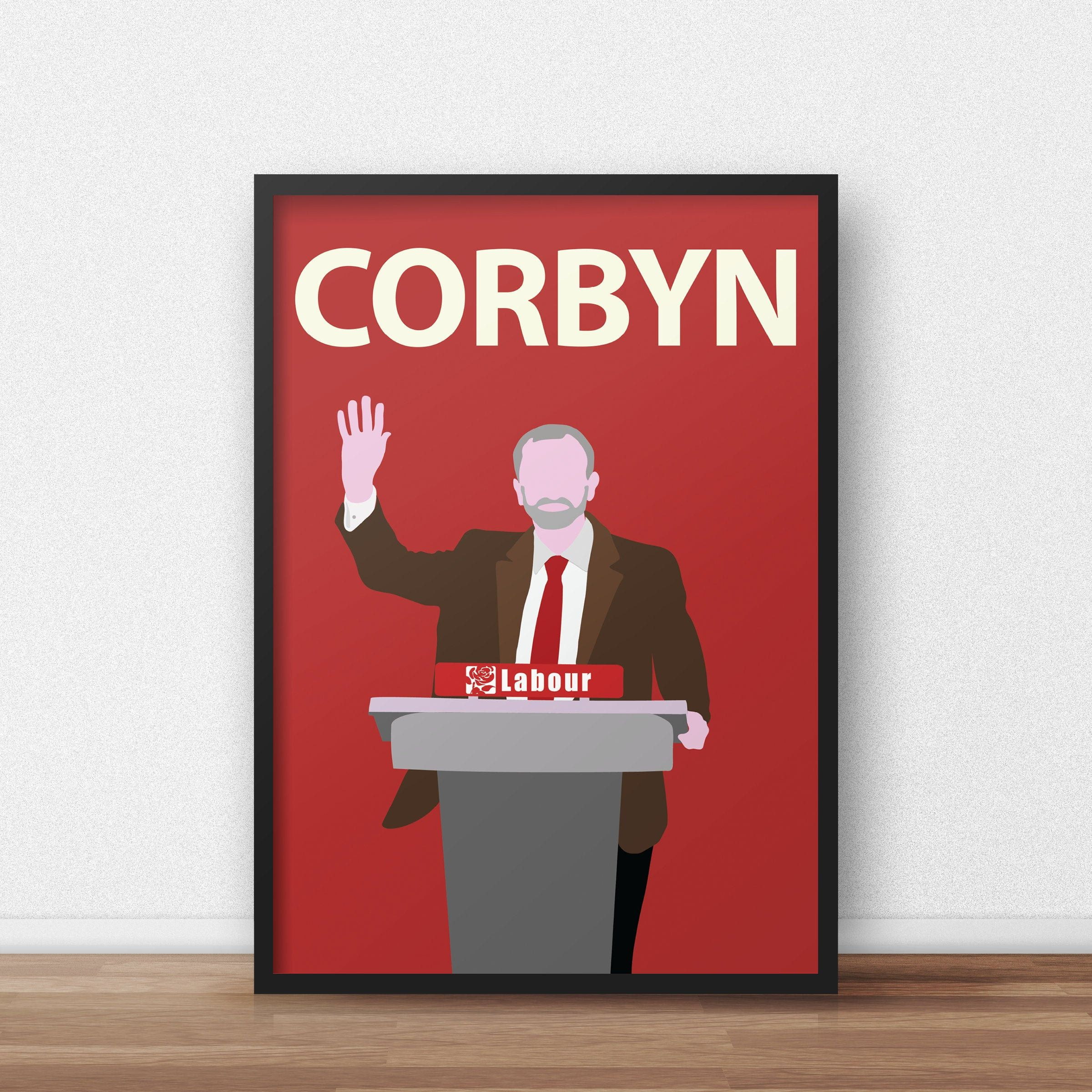 Jeremy Corbyn INSPIRED WALL ART Print Poster Minimal A4 A3 Labour