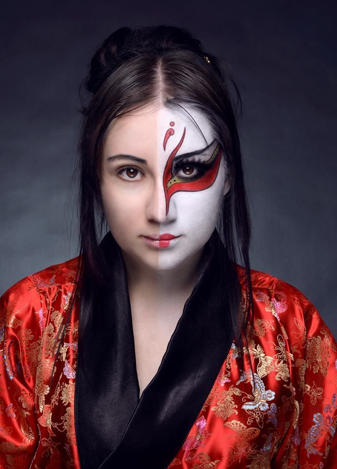 Kabuki Design So Cool | Face Paint | Pinterest
