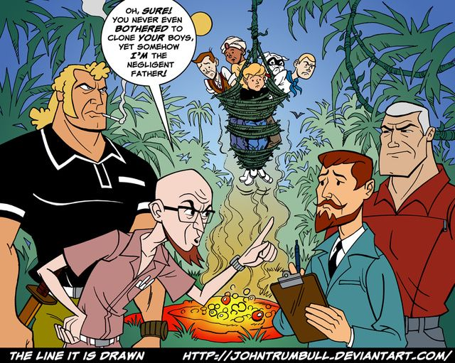 Hank And Dean Venture Dress Up As X Men S Cyclops And Havok Jonny Quest Race Bannon Bros