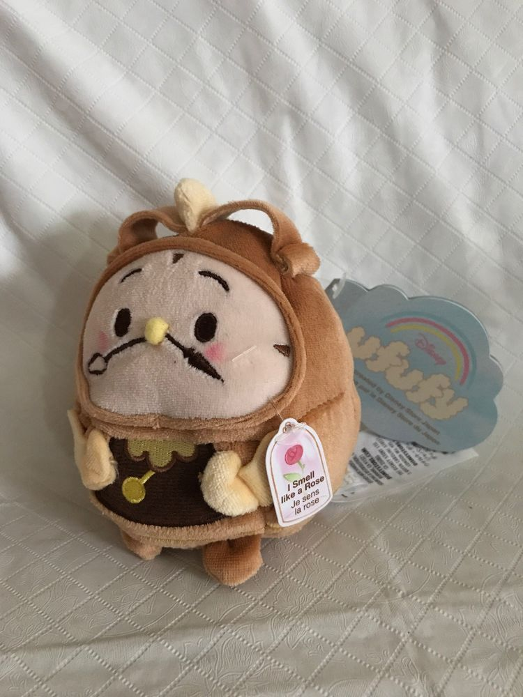 e005961710c427 Disney Ufufy - Beauty and the Beast - Cogsworth Scented Rose Plush - 4.5