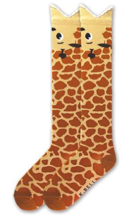 Go on a safari with the Giraffe Wide Mouth Women s Knee High Socks  featuring an opening shaped like the mouth of a hungry giraffe. With giant  cartoon eyes 107680d18