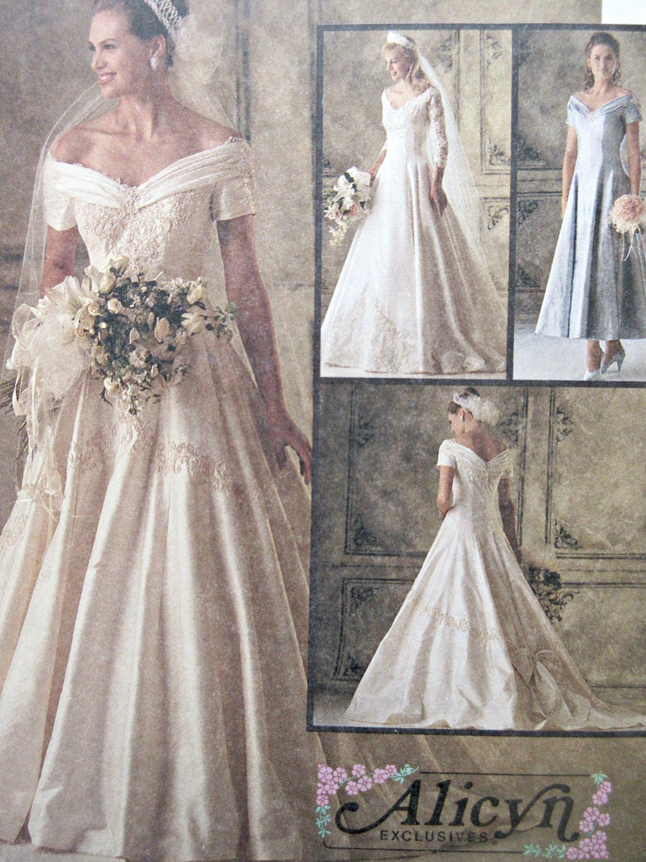 Vintage McCall\'s 6951 Sewing Pattern, Wedding Dress Pattern, 1990s ...