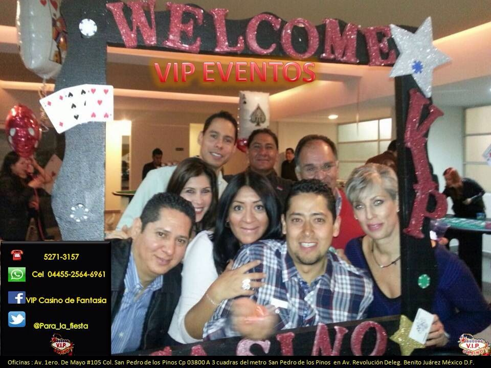 Marco de foto para eventos de casino. VIP Eventos México