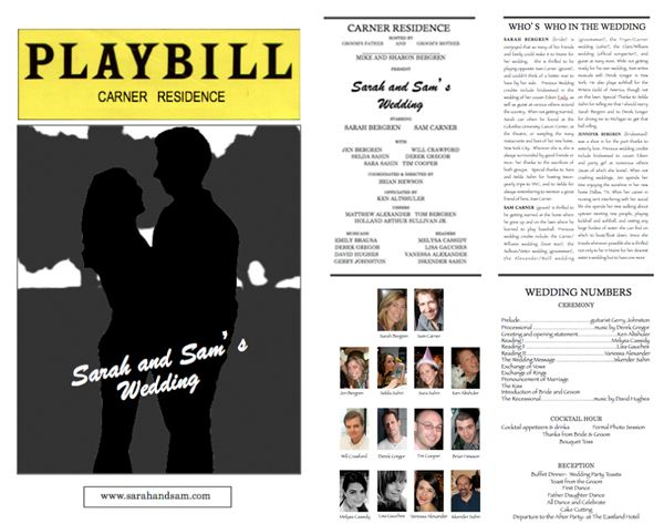Playbill Template. playbill template etsy. playbill invitation and ...