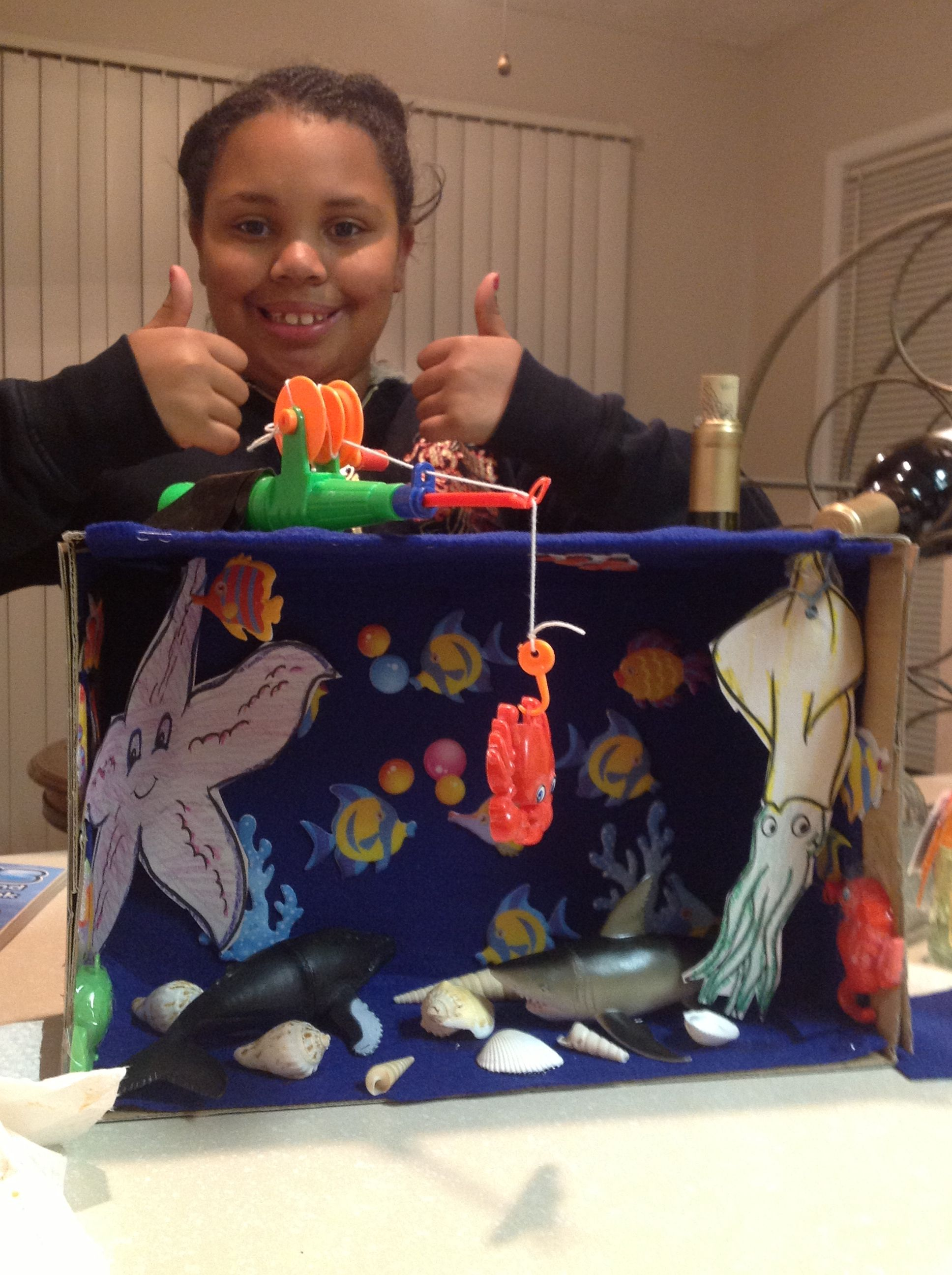 Ocean Shoebox Diorama 3rd Grade Science
