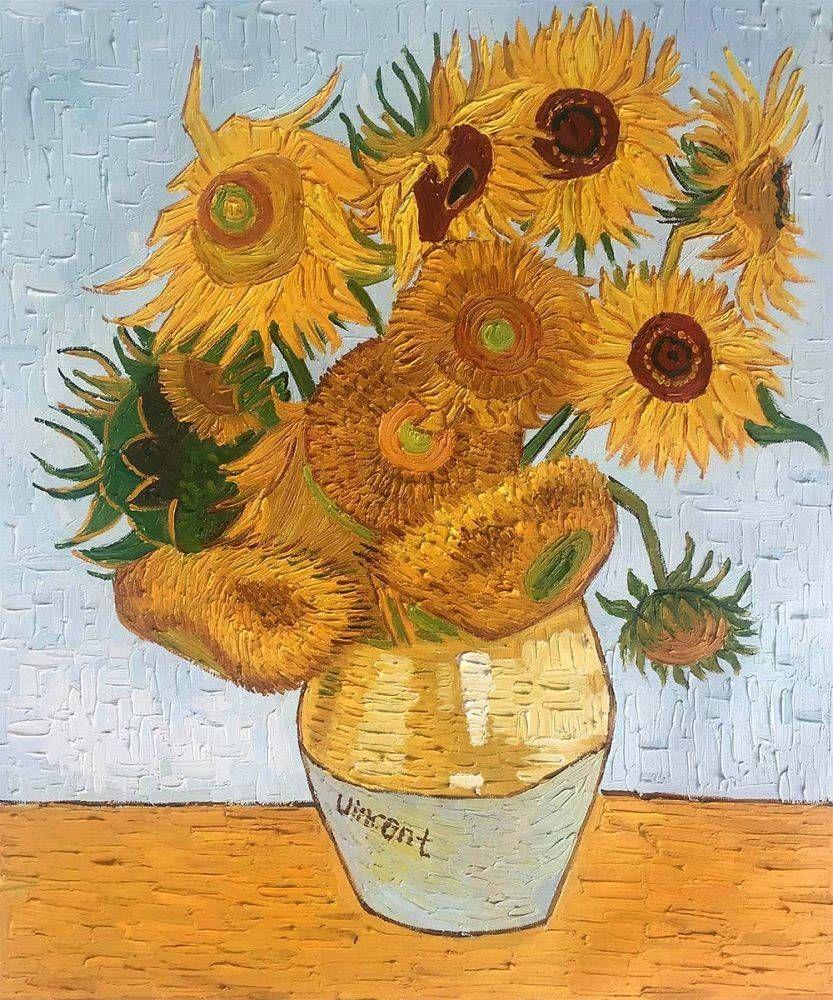 Sunflowers - Vincent Van Gogh - Oil Reproduction