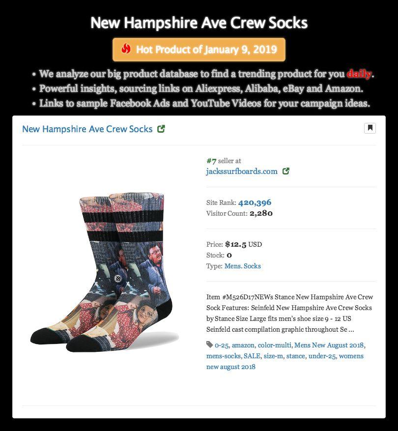 New Hampshire Ave Crew Socks Hot Product Of January 9 2019
