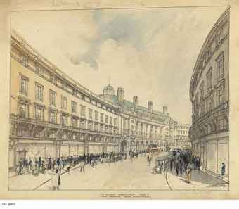 A design for the Quadrant, Regent's Street, London; and Guildford Cathedral
