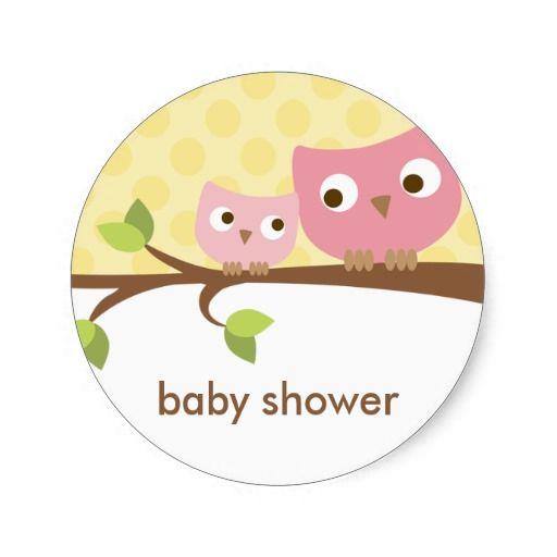 Owl · pink owls stickers round stickers
