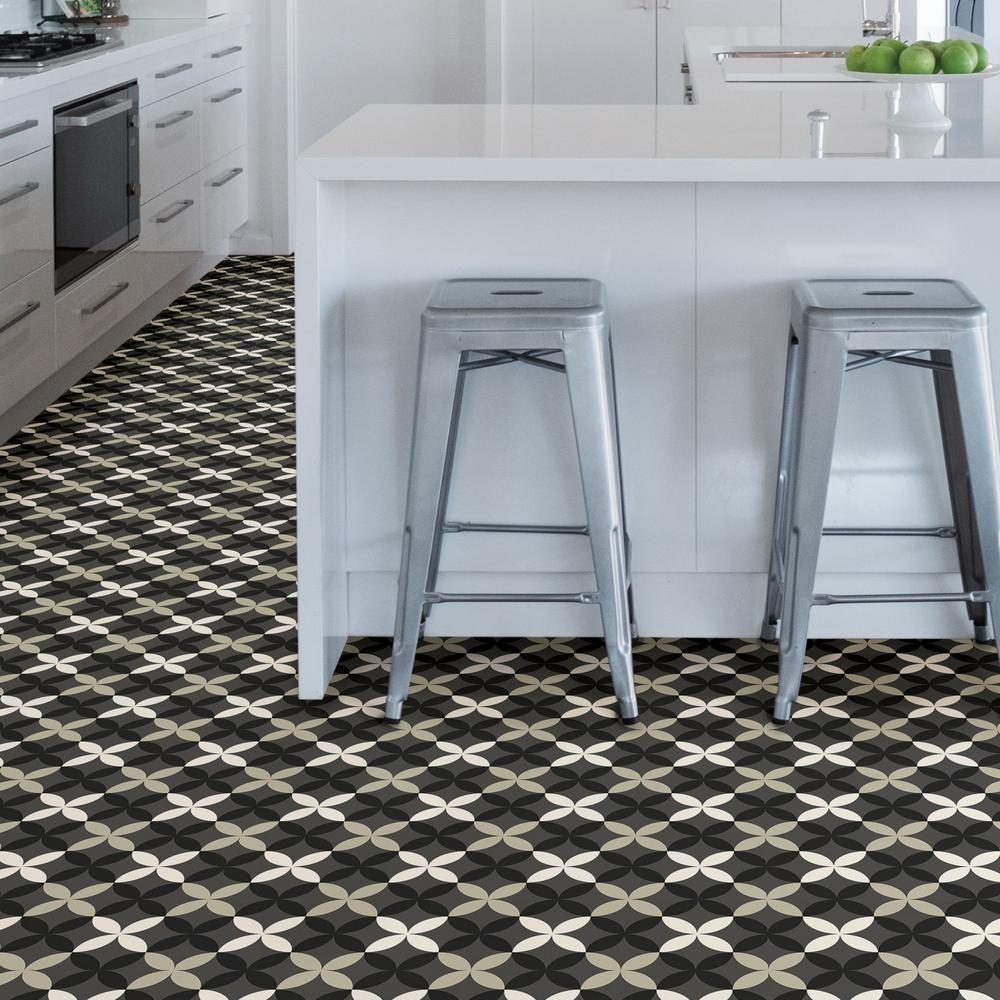 Floorpops Arbor Peel And Stick Floor Tiles 12 In X 12 In 20 Tiles 20 Sq Ft Tfp3367 The Home Depot Peel And Stick Floor Tile Floor Floor Tile Design