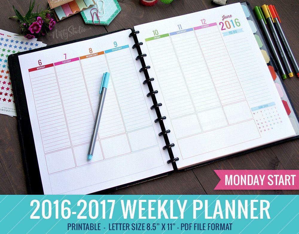 weekly academic planner google search planner pinterest