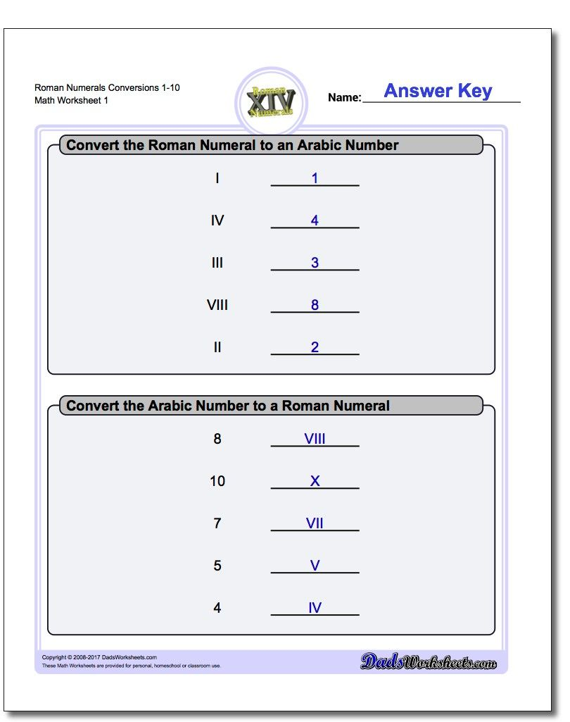 If your students need practice with Roman numerals [ 1025 x 810 Pixel ]
