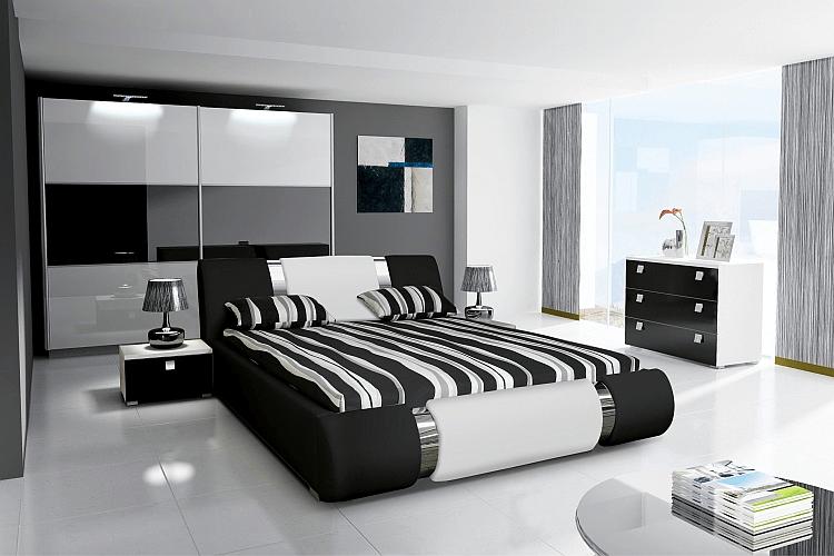 Schlafzimmer Design Schwarz Weiß