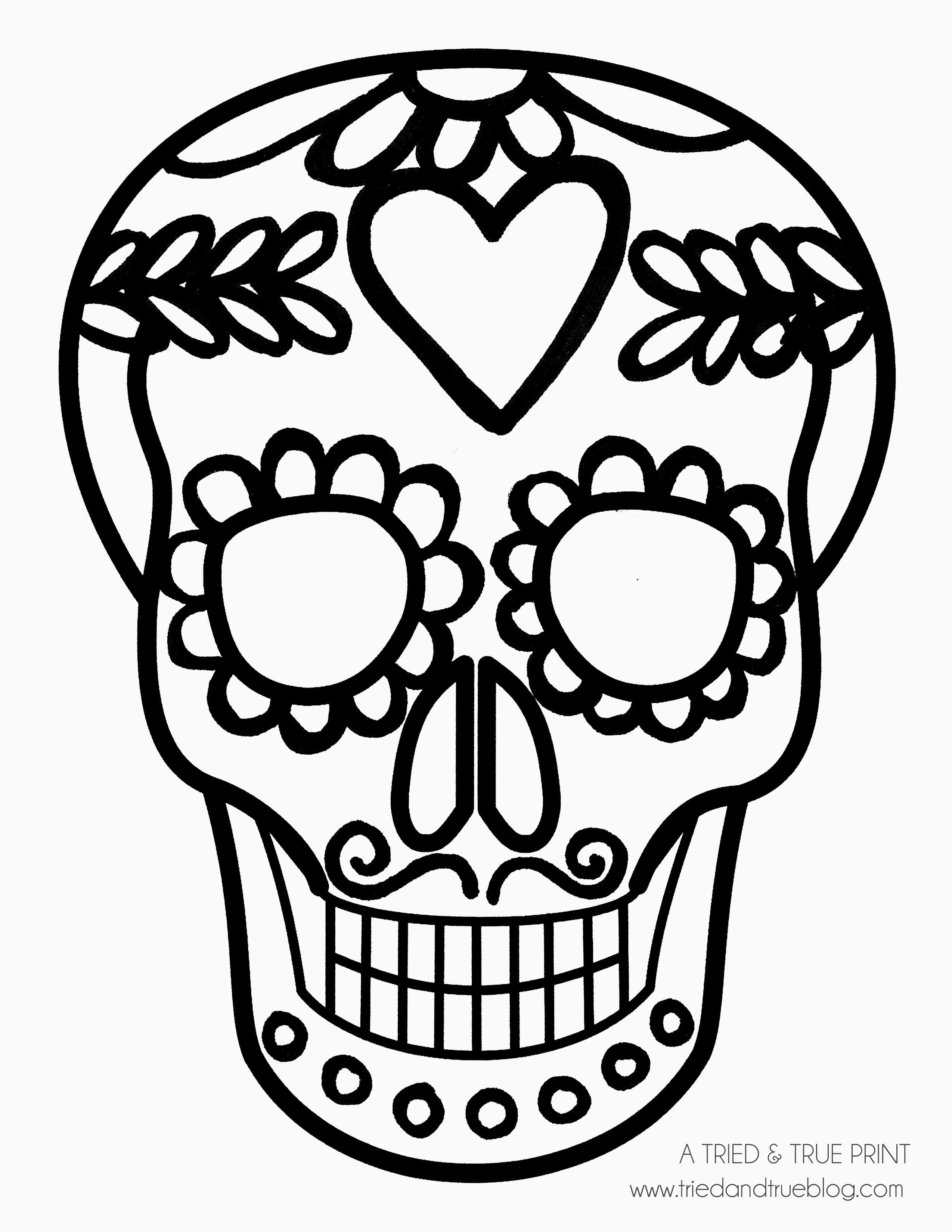 Easy Calavera Mask Heart And Mustache