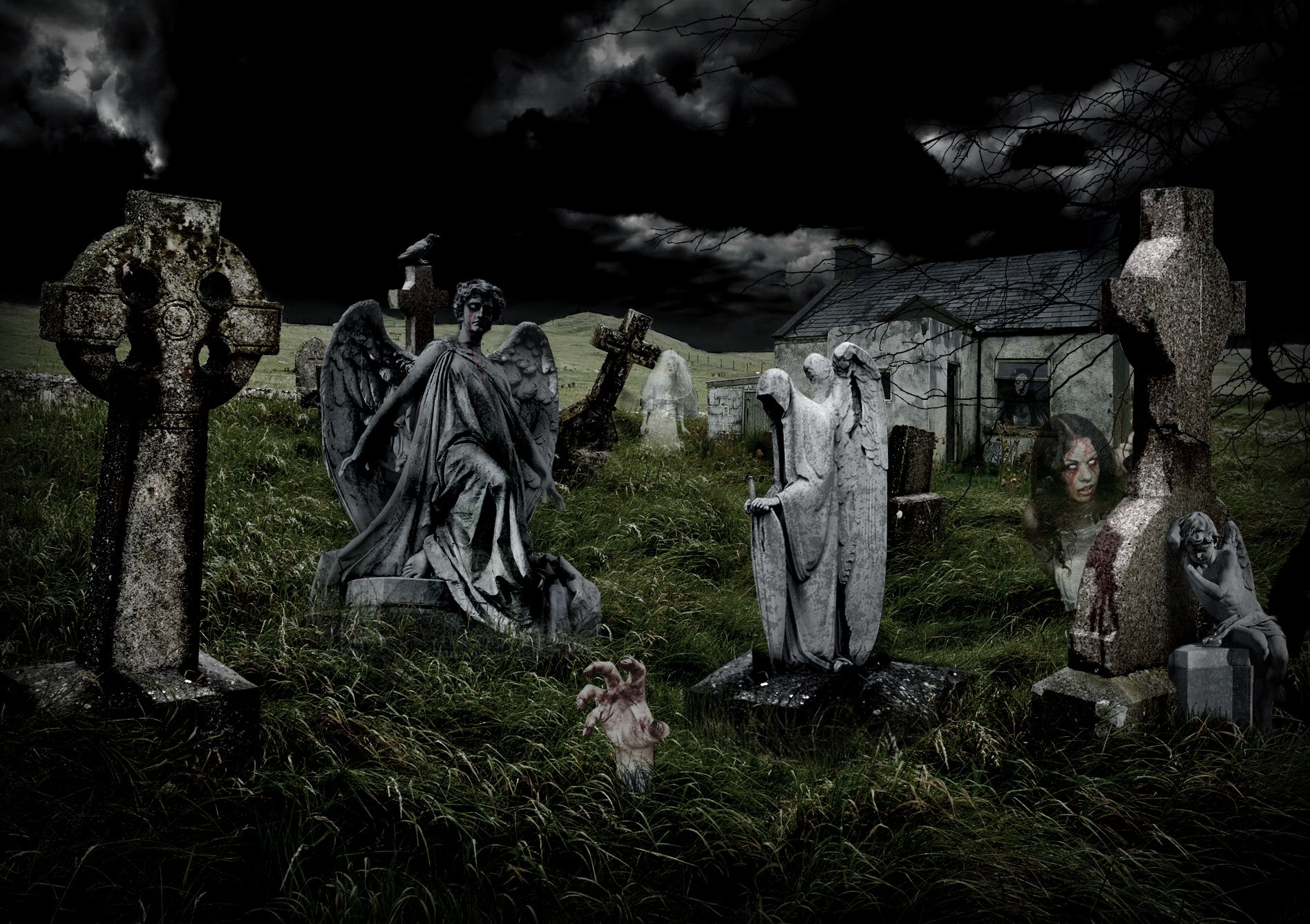 Image Gallery scary cemetery