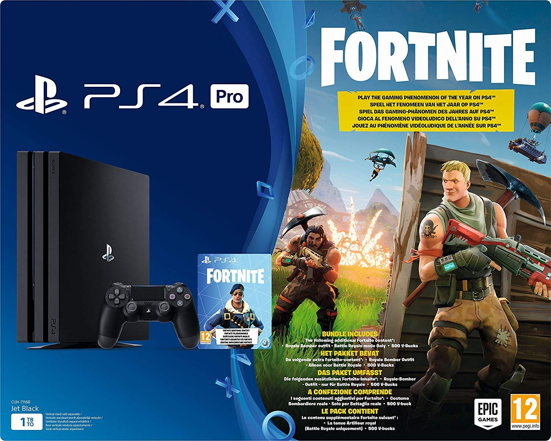 Playstation 4 Pro Konsole 1tb Fortnite Royal Bomber Pack Bundle