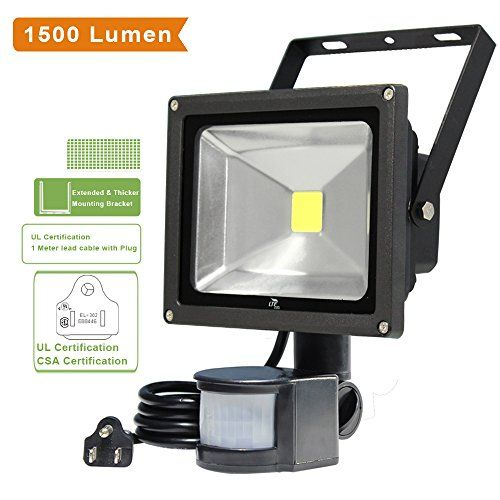 Lte 20w Motion Sensor Lights Super Bright Outdoor Led Flood Lights 1500 Lumen 100w Halogen Lights Equival Led Flood Lights Security Lights Motion Sensor Lights