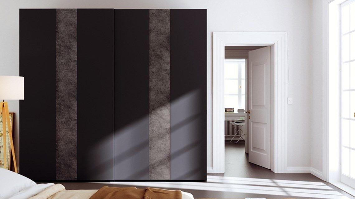 Armadio Nero Opaco : Armadio laccato opaco ed effetto cemento mobili particolari