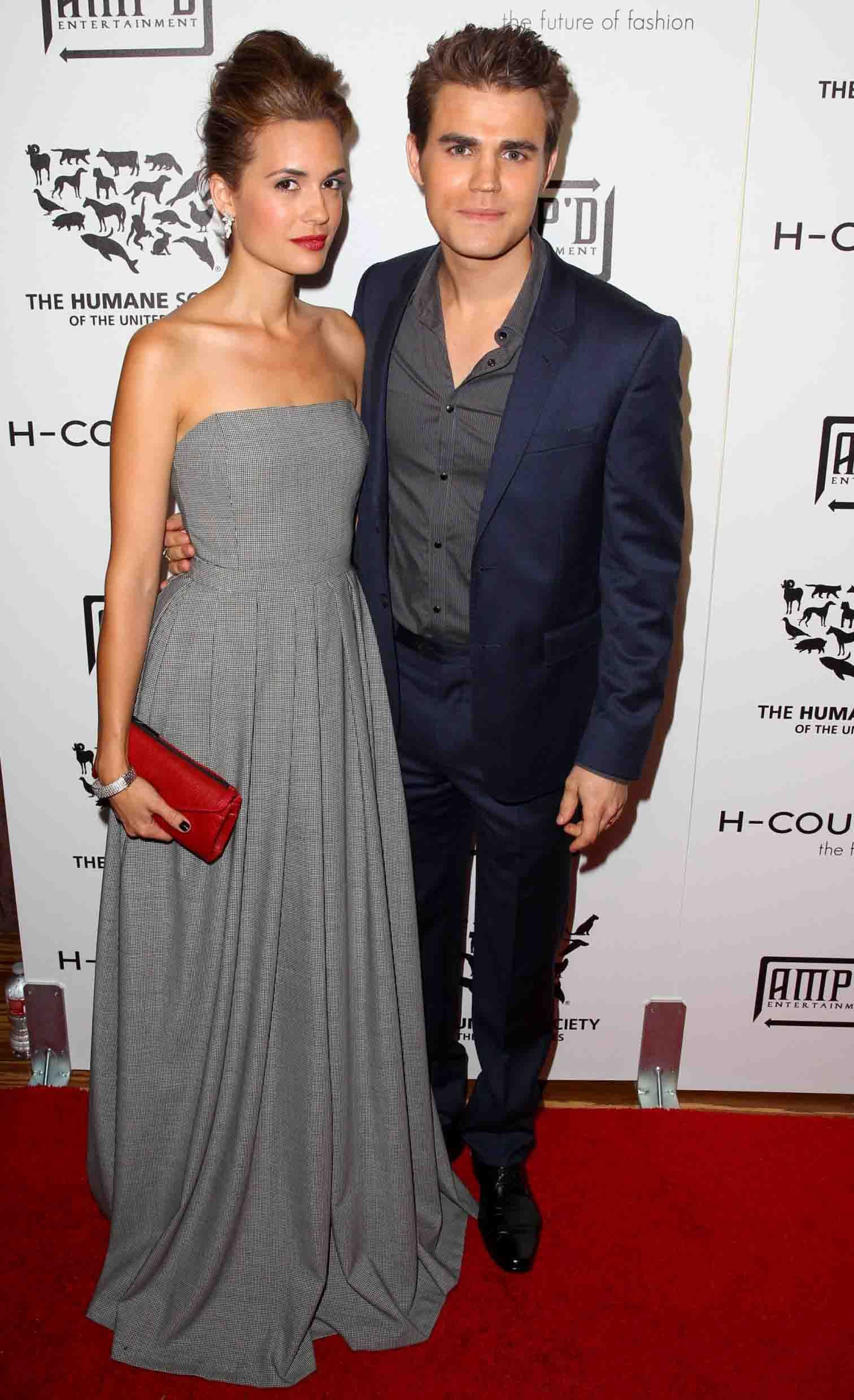 Torrey DeVitto with former husband Paul Wesley