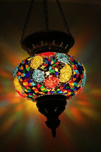 extra large turkish moroccan mosaic hanging lamp pendant lantern lampshade ebay lustre. Black Bedroom Furniture Sets. Home Design Ideas
