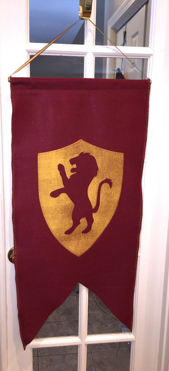 Harry Potter LARGE House Banner 17x34 Gryffindor By DaritiDesigns