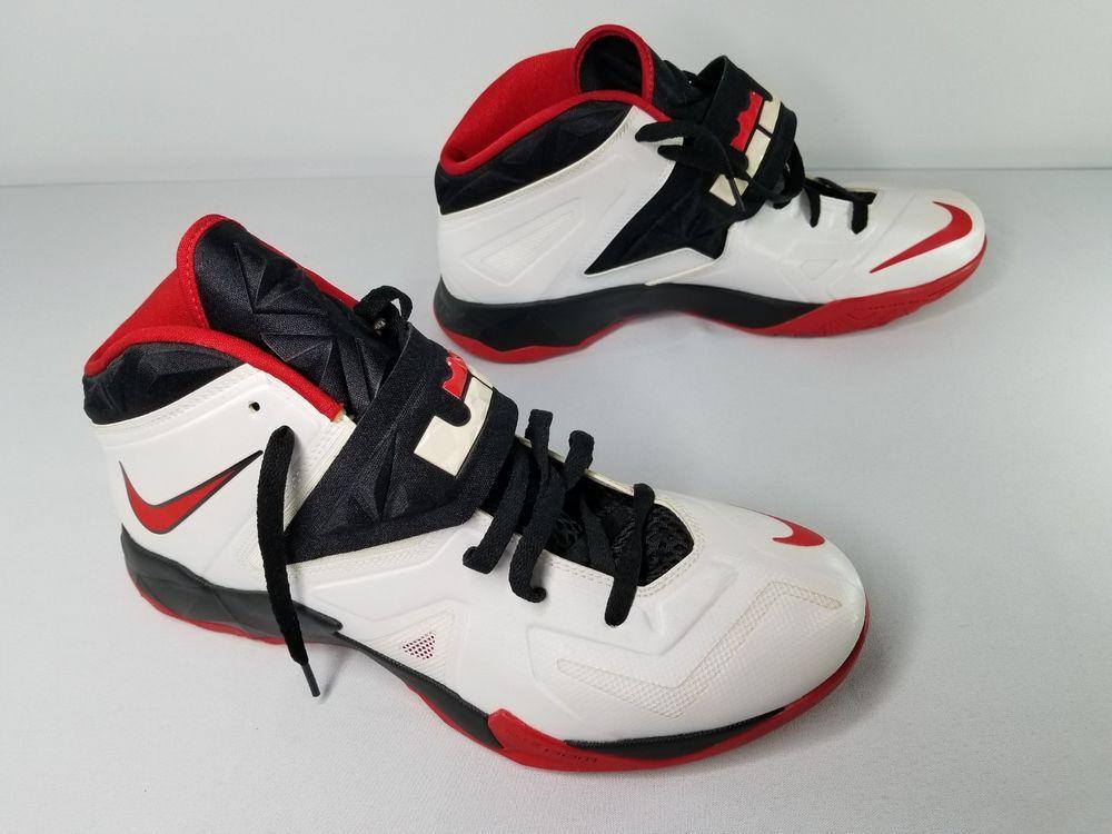 uk availability 1e764 bfb8b Nike 2003 Air Zoom Generation Lebron James Size 11.5 WhiteVars  CrimsonBlack