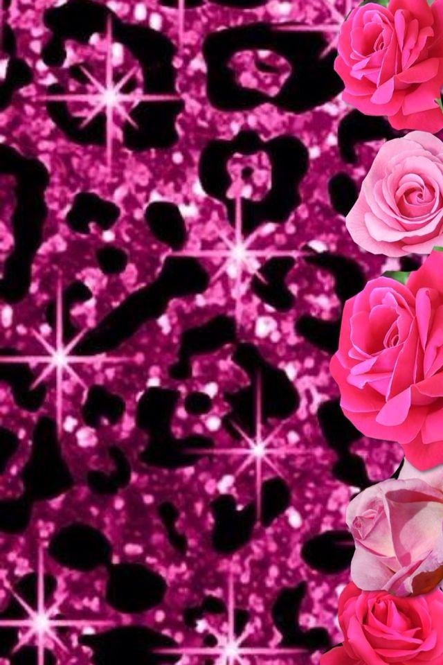 Cute Girly Glitter Wallpaper Glitter Pink Leopard Wallpaper Glitter Leopard Pink