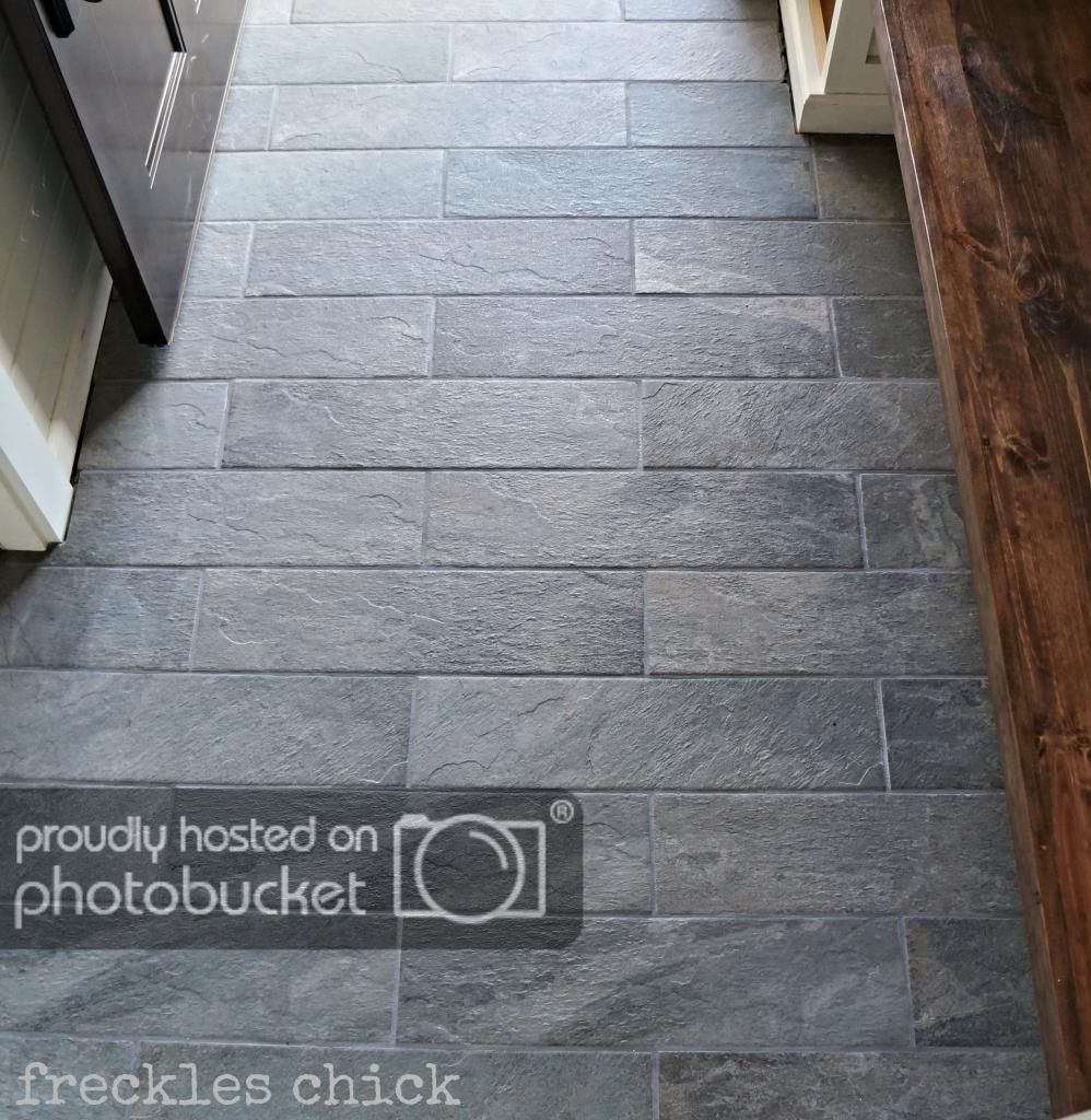 Mudroom Tile Idea Fulfilled By Another Pin Of Lowes Charcoal Slate Porcelain Tile Flooring Foyer Flooring Black Slate Tiles