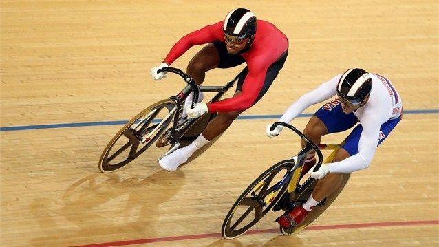Njisane Nicholas Phillip of Trinidad and Tobago competes against Denis Dmitriev of Russia
