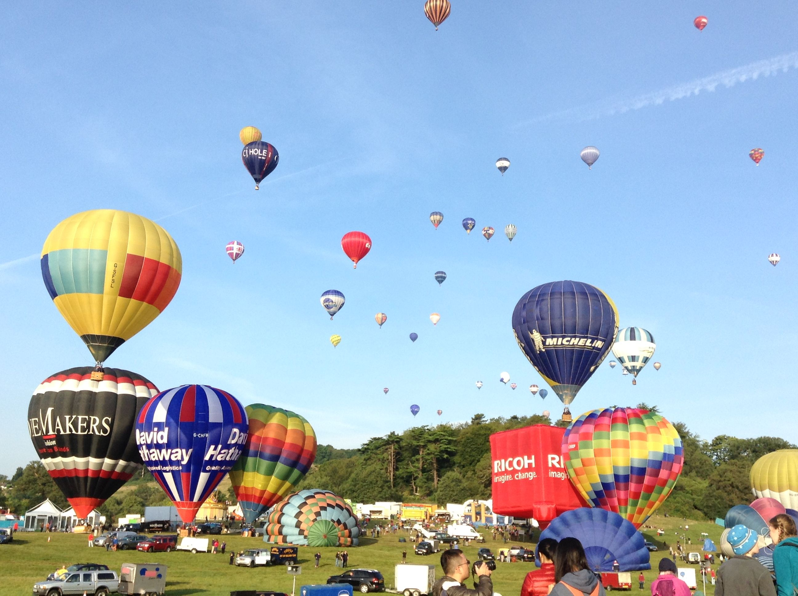 Hot air balloons Bristol balloon festival 2014 Bristol