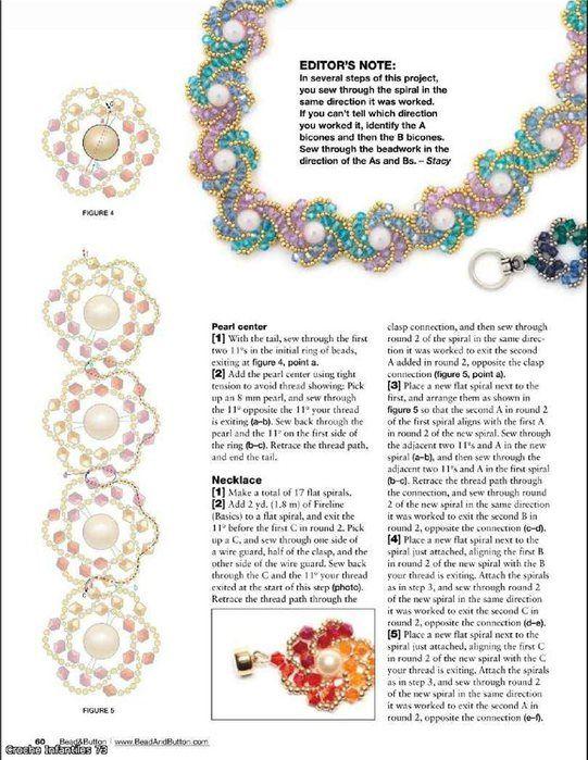 Flower necklace. Beads. Scheme - 3