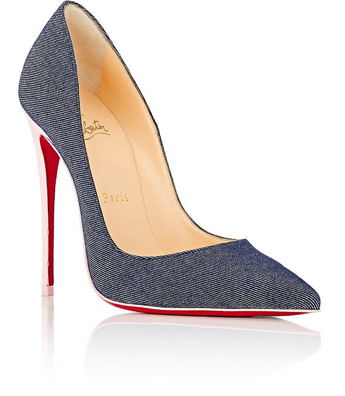 5597d8883ccb Christian Louboutin So Kate Denim   Patent Leather Pumps - 9.5 Red ...