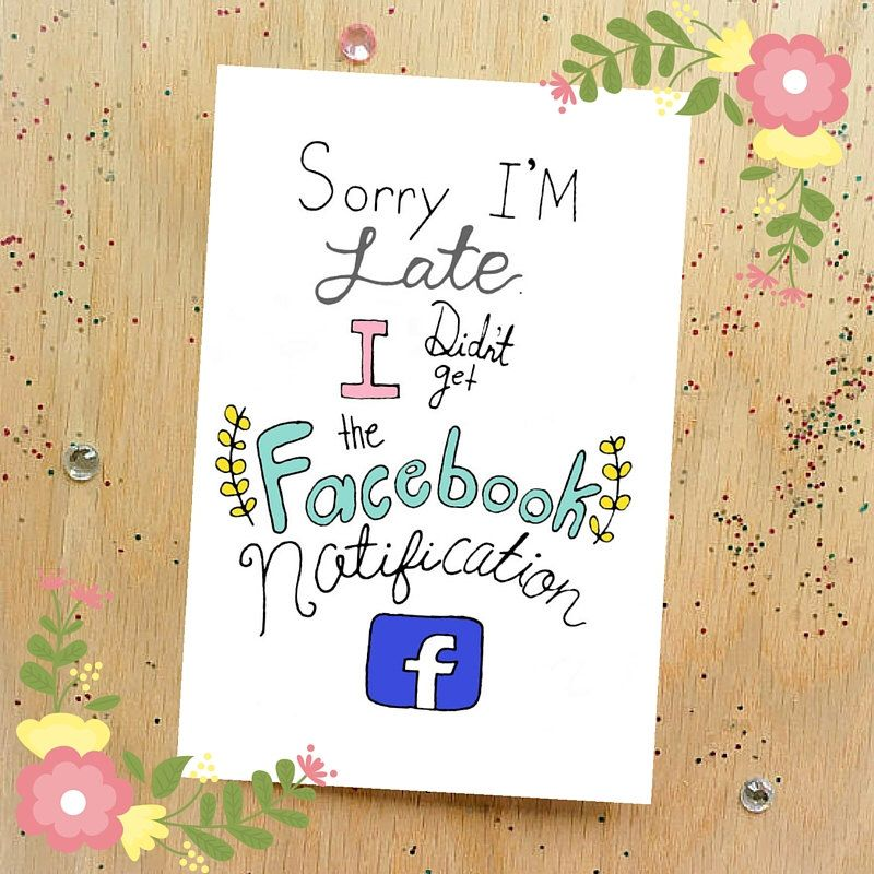 Funny Happy Belated Birthday Card Facebook