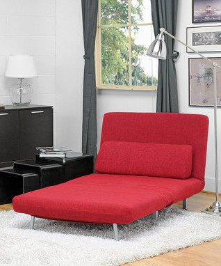 Loving this #zulilyfinds home pick-of-the-day: Red Amiens Convertible Split-Back Sofa Bed