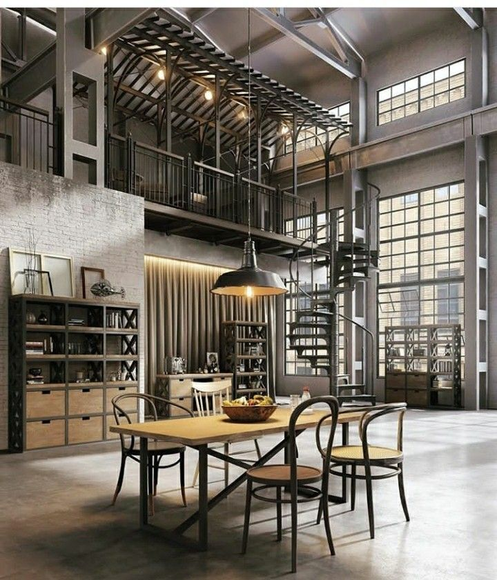 Love the loft industrial steel windows industrial for Decoracion retro industrial
