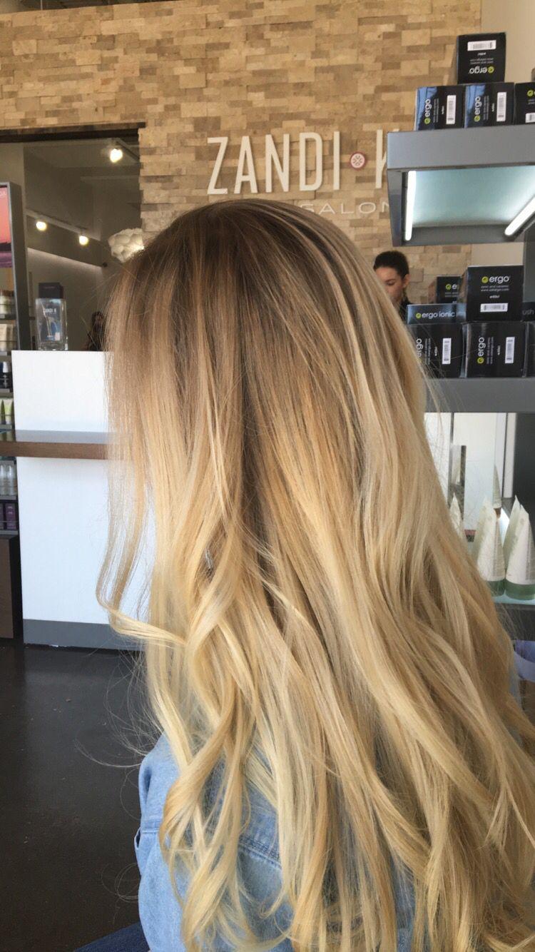 Warm Brown Melting To Butter Blonde Warm Blonde Hair