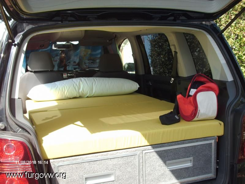 mueble cama vw touran caravaning pinterest. Black Bedroom Furniture Sets. Home Design Ideas