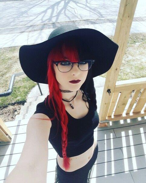 Half Red Half Black Hair Gothic Reckless Lady26 Split Dyed Hair Split Hair Rockabilly Hair