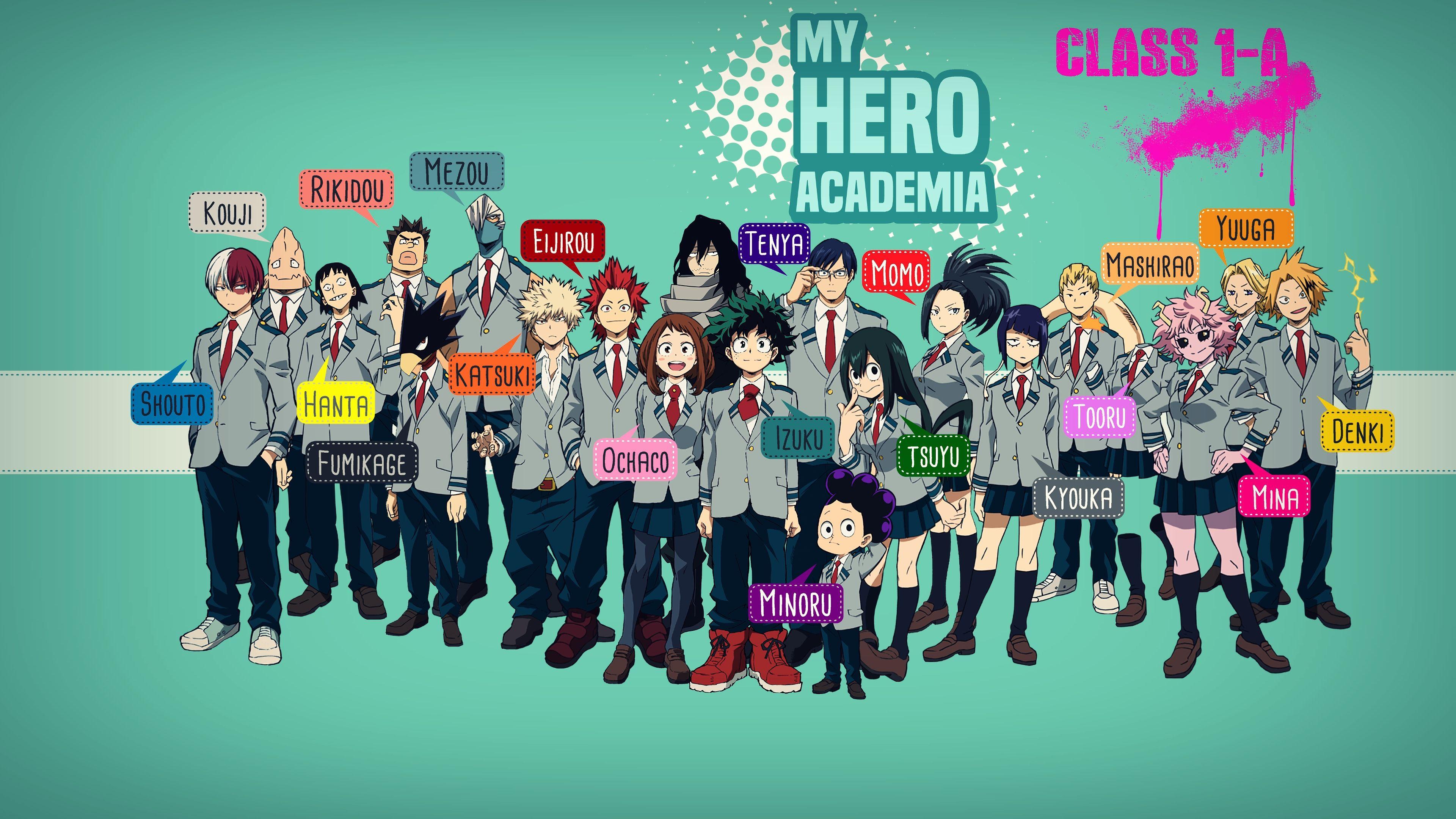 My Hero Academia Boku No Hero Academia Anime Ua Class 1 A