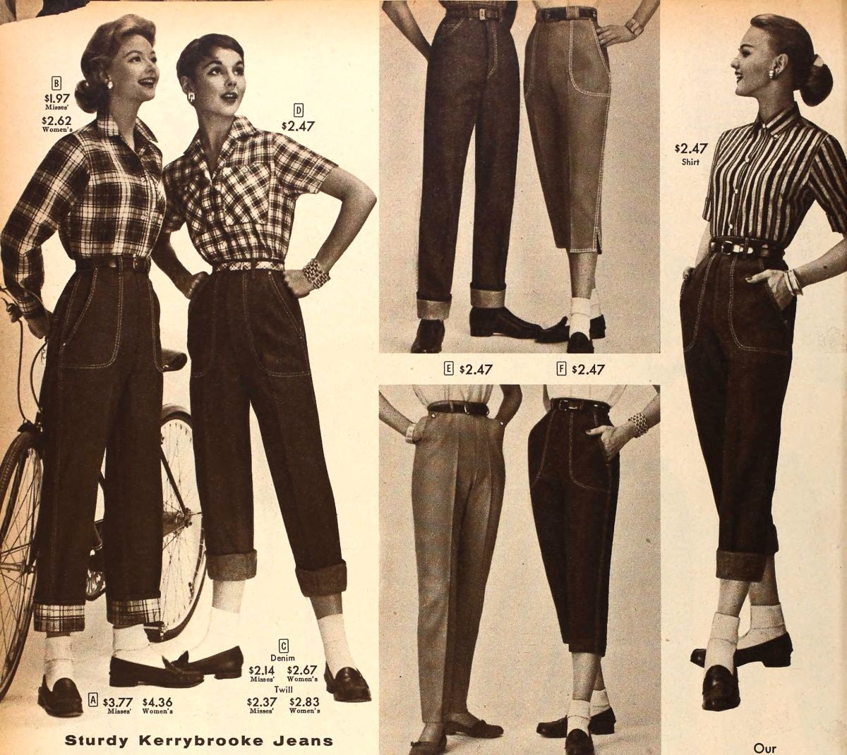 jeans from 1957 50s style jeans gr pinterest style vintage pantalons et tenues rockabilly. Black Bedroom Furniture Sets. Home Design Ideas